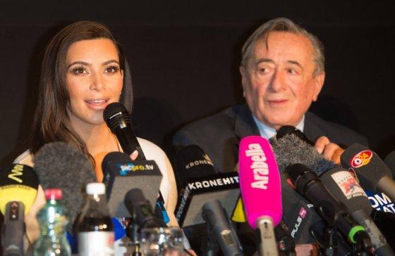 """""""Scanpix""""/""""Sipa Press"""" nuotr./Kim Kardashian ir Richardas Lugneris"""