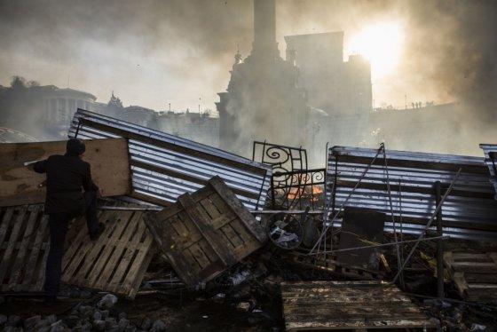"AFP/""Scanpix"" nuotr./Barikados Kijeve"