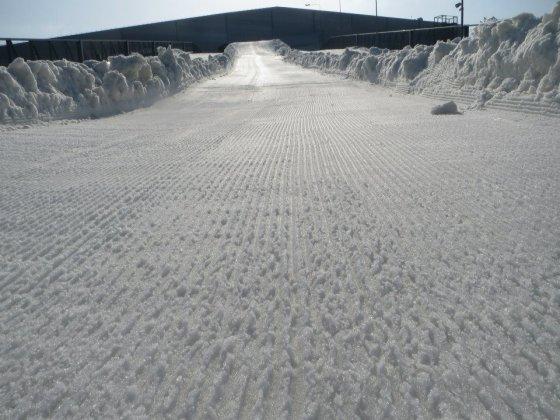 """Snow arenos nuotr./Ruošiama """"Snow Kayak 2014"""" trasa"""