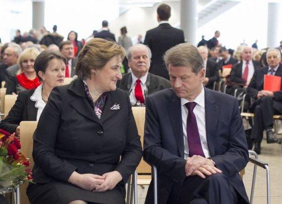 Loreta Graužinienė ir Rolandas Paksas