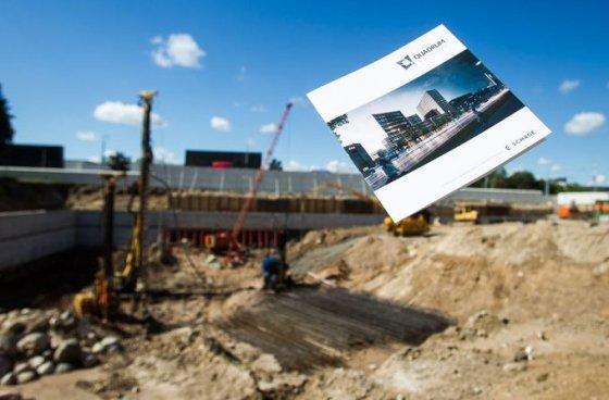 """""""Quadrum"""" statybų aikštelėje įkasta simbolinė kapsulė"""