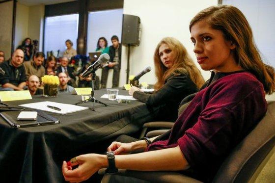 """Reuters""/""Scanpix"" nuotr./Maria Alyokhina ir Nadezhda Tolokonnikova"