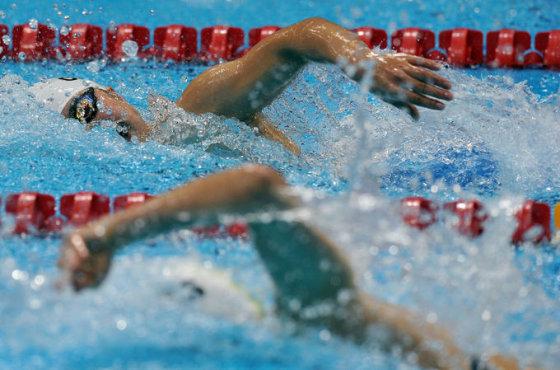 Plaukikas Kęstutis Skučas parolimpinėse Londono žaidynės 50 m rungtyje nugara buvo devintas