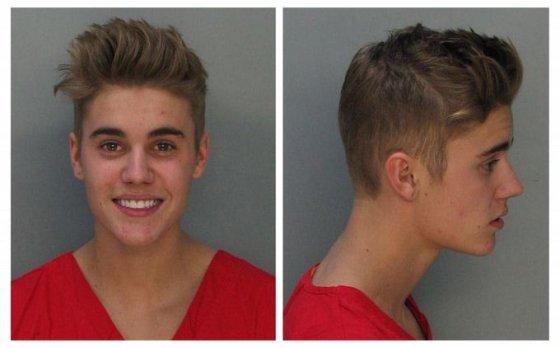 Justinas Bieberis policijoje
