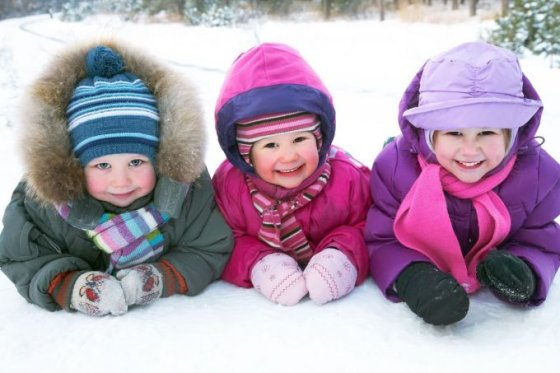 123rf.com nuotr./Vaikai žiemą
