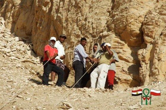 Kamilio Zacherto/Varšuvos universiteto Archeologijos instituto misijos Deir el-Bahri nuotr./Lenkijos archeologai dirba Egipte, Deir el-Bahri