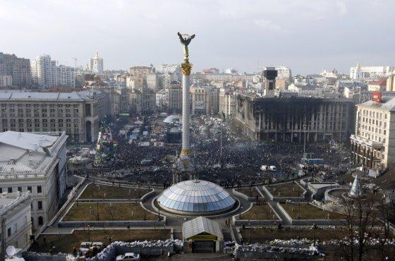 """""""Reuters""""/""""Scanpix"""" nuotr./Kijevo Nepriklausomybės aikštė"""