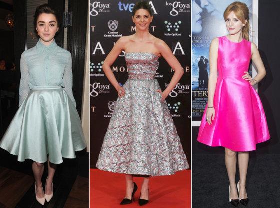 """""""Scanpix"""" nuotr./Iš kairės: aktorės Maisie Williams, Manuela Velasco, Bella Thorne"""