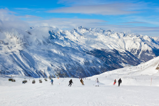 Shutterstock nuotr. / Obergurglio slidinėjimo kurortas Austrijoje