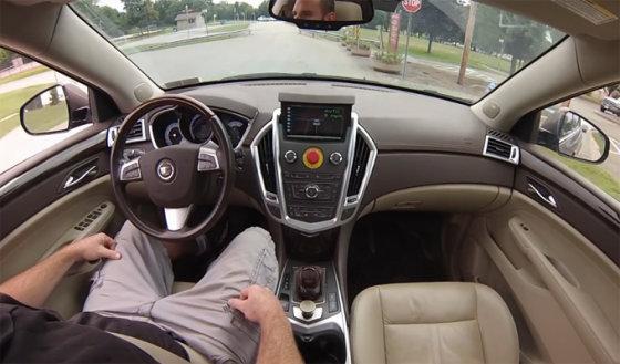 """Kadras iš vaizdo siužeto/Autonominis """"Cadillac SRX"""""""