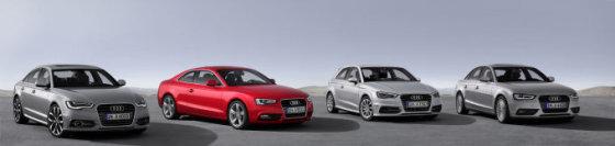 """""""Audi"""" nuotr./Naujieji """"Audi"""" modeliai su """"ultra"""" ženkleliu"""