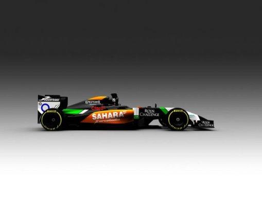 """""""Force India"""" komandos nuotr./2014-ųjų """"Force India"""" formulė"""