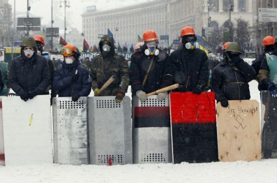 Protestuotojai Kijeve