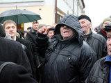 Eriko Ovčarenko/15min.lt nuotr./Pasipiktinęs mitinguotojas