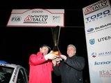 """reporteris.com nuotr./Saulius Girdauskas ir Paulius Urbonas laimėjo """"Winter Rally 2009"""""""