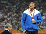 Alfredo Pliadžio nuotr./Olimpinis auksas jau ant atleto krūtinės
