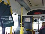 Sauliaus Chadasevičiaus/15min.lt nuotr./Policija tiki, kad viešojo transporto vaizdo ekranuose rodomi filmukai yra efektyvi nusikaltimų prevencijos priemonė.
