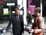 Tomo Sarnačinsko nuotr./Renkami parašai dėl pernelyg didelių tarpbankinių palūkanų.