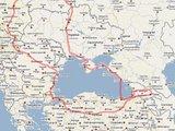 Žygio Aplink Juodąją jūrą žemėlapis