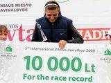 Alfredo Pliadžio nuotr./Vilniaus maratono nugalėtoja Diana Lobačevskė