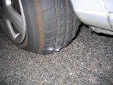 VSAT nuotr./Pradurta automobilio padanga
