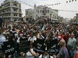 """AFP/""""Scanpix"""" nuotr./Palestiniečiai paminėjo Katastrofos dieną."""