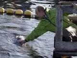 """""""Reuters""""/""""Scanpix"""" nuotr./Rusijos premjeras Vladimiras Putinas nardymo aparatu """"Mir"""" nusileido į Baikalo ežero dugną."""