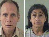 """AFP/""""Scanpix"""" nuotr./Ph.Garrido, kuris yra teistas už žaginimą, ir jo žmona Nancy buvo nuvežti į areštinę."""