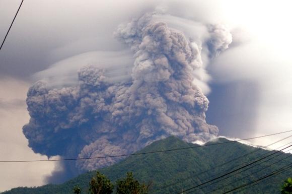 AFP/Scanpix nuotr./Vulkano iasiveržimas.