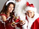 Linksmadieniai.lt nuotr./Kalėdų Senelis su padėjėjais