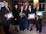 Klaipėdos raj. savivaldybės nuotr./Konkurso nugalėtojai atsiėmė apdovanojimus.