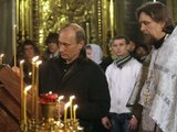 """""""Scanpix"""" nuotr./V.Putinas Šv. kankinių Aleksandro ir Antoninos romiečių cerkvėje"""