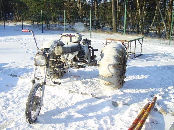 VSAT nuotr./Pažeidėjų triratis motociklas