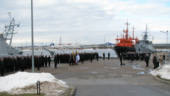 KAM nuotr./Jūrų kapitono Olego Mariničiaus ialeidimo į atsargą ceremonija.