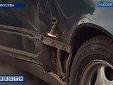 TV kadras/Taip atrodė po tarano nukentėję maskviečių automobiliai