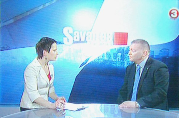TV3 laidos stop kadras/Ekskomisaras TV laidoje