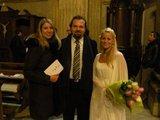 Sondros Litvaitytės nuotr. /Vaida Genytė ir festivalio režisierius Enrico Castiglione su žmona