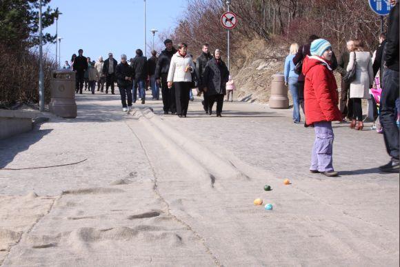 J.Andriejauskaitės nuotr./Lovelis Palangos tilto prieigose viliamasi bus ilgiausias Lietuvoje.