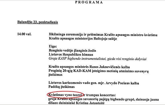 15min.lt iliustracija/Ministrė, anot L.Jako, įteisino alkoholio vartojimą ministerijoje.