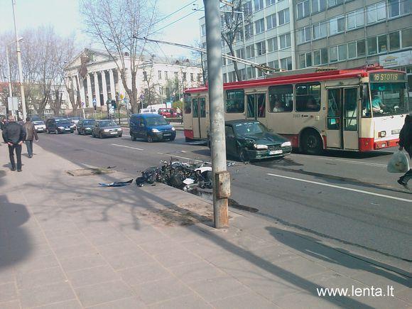15min.lt skaitytojo nuotr./Eismo nelaimė Kauno gatvėje sostinėje