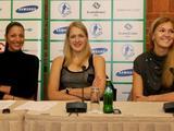 Irmanto Gelūno/15min.lt nuotr./Lietuvos moterų krepšinio rinktinės spaudos konferencija