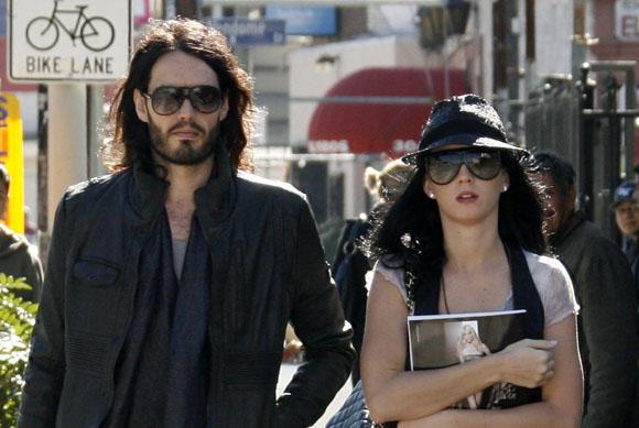 Scanpix nuotr./Russellas Brandas ir Katy Perry