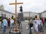 Andriaus Vaitkevičiaus/15min.lt nuotr./Prie Lenkijos prezidentūros Varšuvoje. 2010 m. gegužės pabaiga