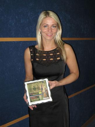 Asm. albumo nuotr./Vaida Genytė Italijoje gavo padėkos raštą
