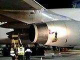 Rusijos TV stop kadras/Ore sprogo lėktuvo variklis