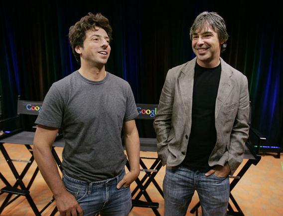 Scanpix nuotr./Larry Page'as ir Sergejus Brinas