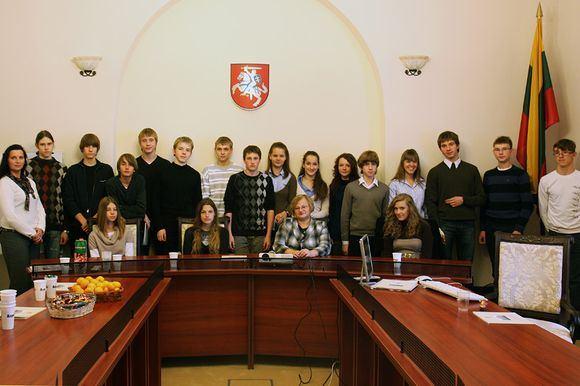 Teismo nuotr./Moksleivių ekskursija į teismą
