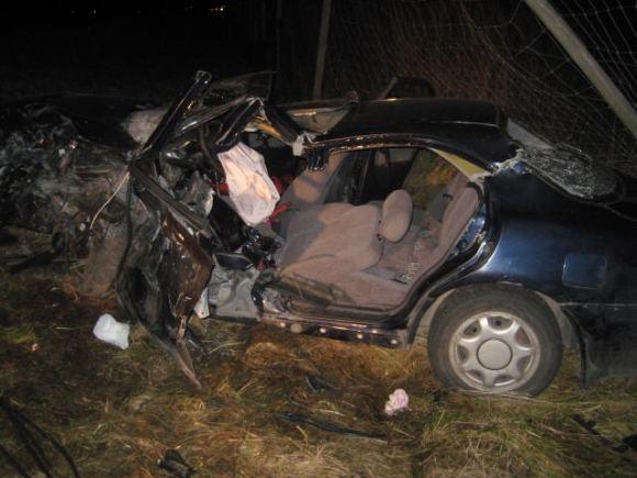 Policijos nuotr. /Mazda Xedos 6 po avarijos