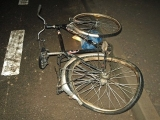 Ukmergės r. PK nuotr./Į avariją patekęs dviratis.