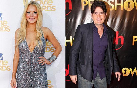 Scanpix nuotr./Lindsay Lohan ir Charlie'is Sheenas
